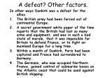 a defeat other factors