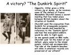 a victory the dunkirk spirit