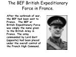 the bef british expeditionary force in france