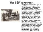 the bef in retreat