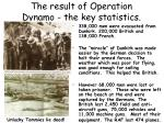 the result of operation dynamo the key statistics