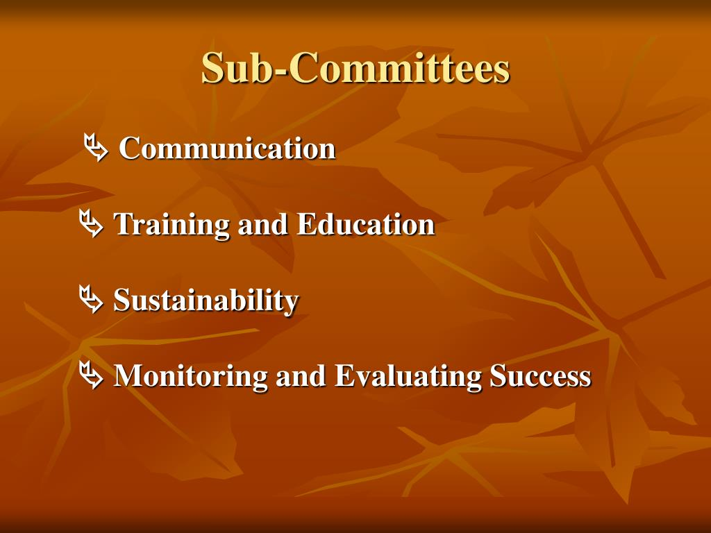 Sub-Committees