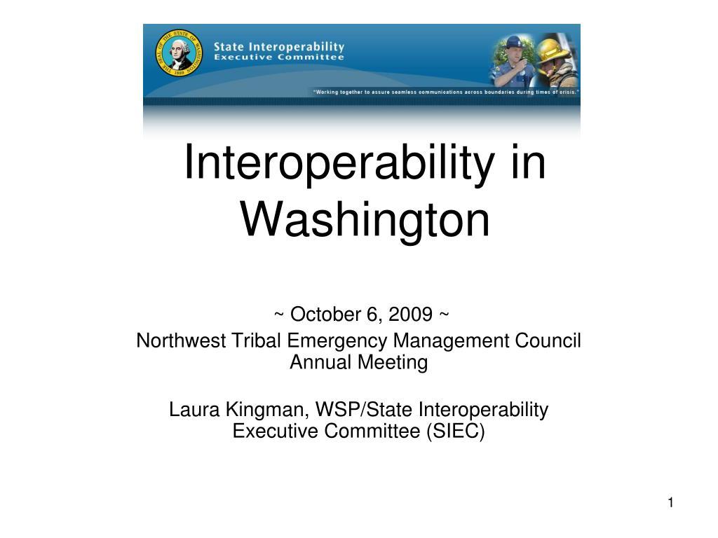 Interoperability in Washington