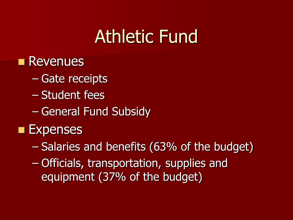 Athletic Fund