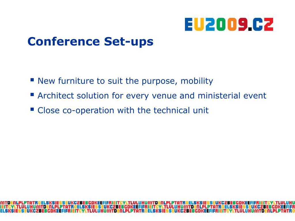 Conference Set-ups