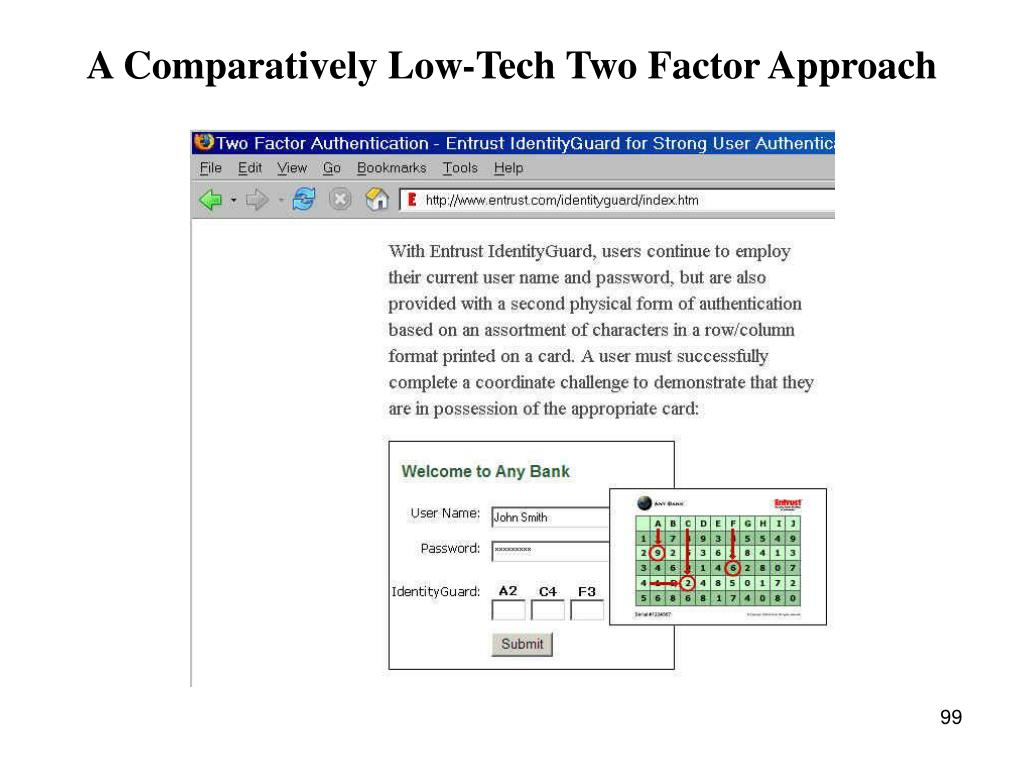 A Comparatively Low-Tech Two Factor Approach