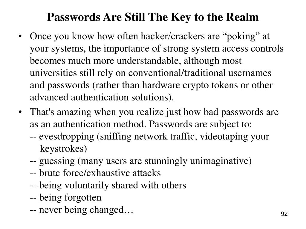 Passwords Are Still The Key to the Realm