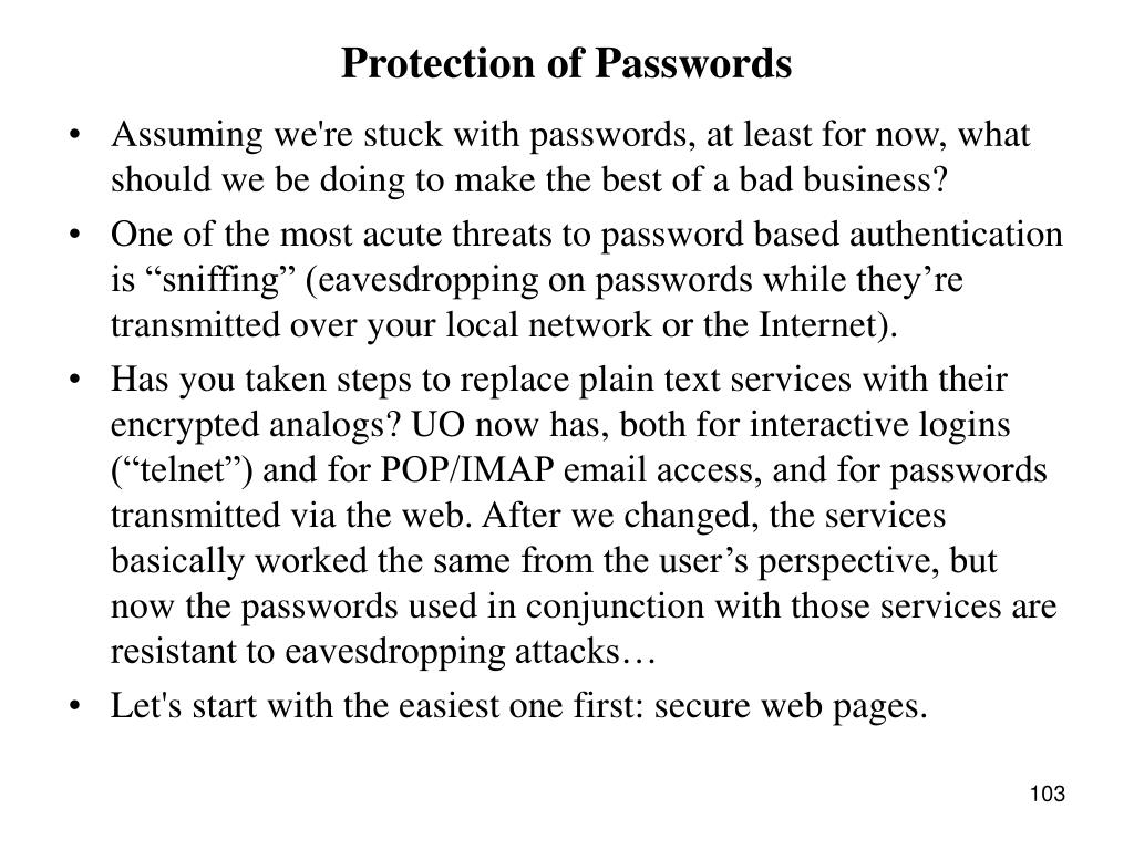 Protection of Passwords