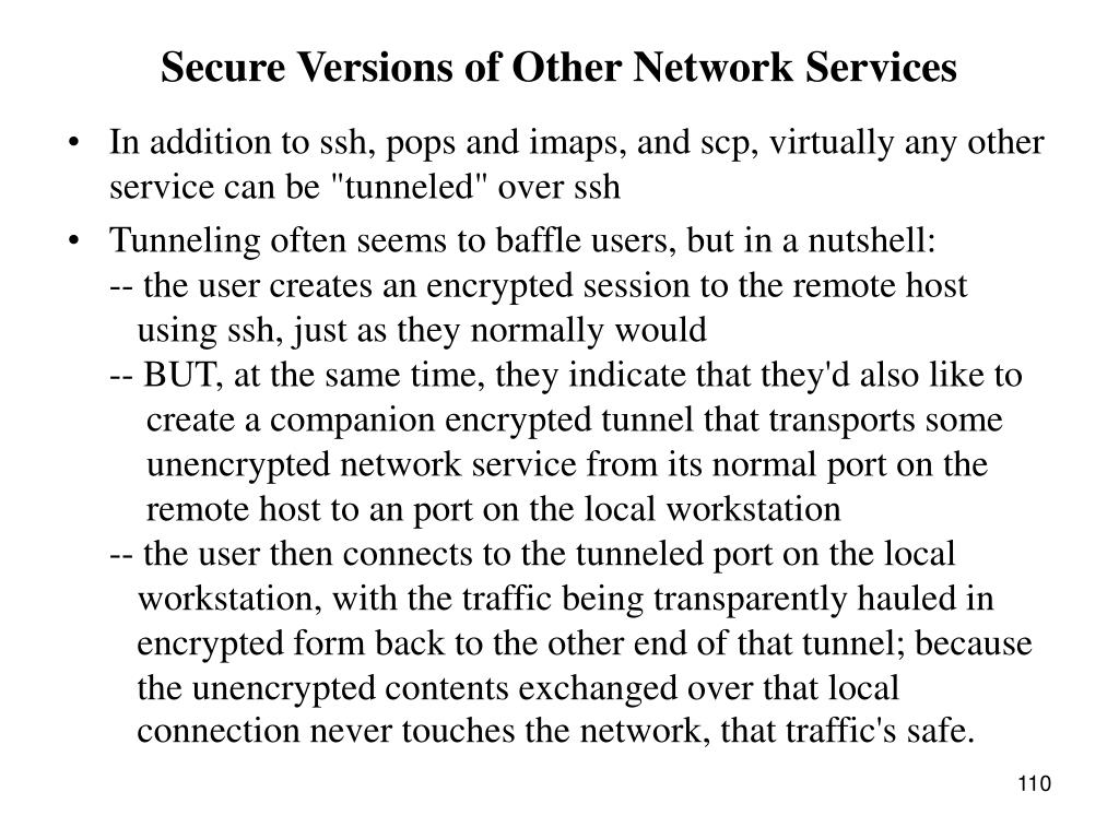 Secure Versions of Other Network Services
