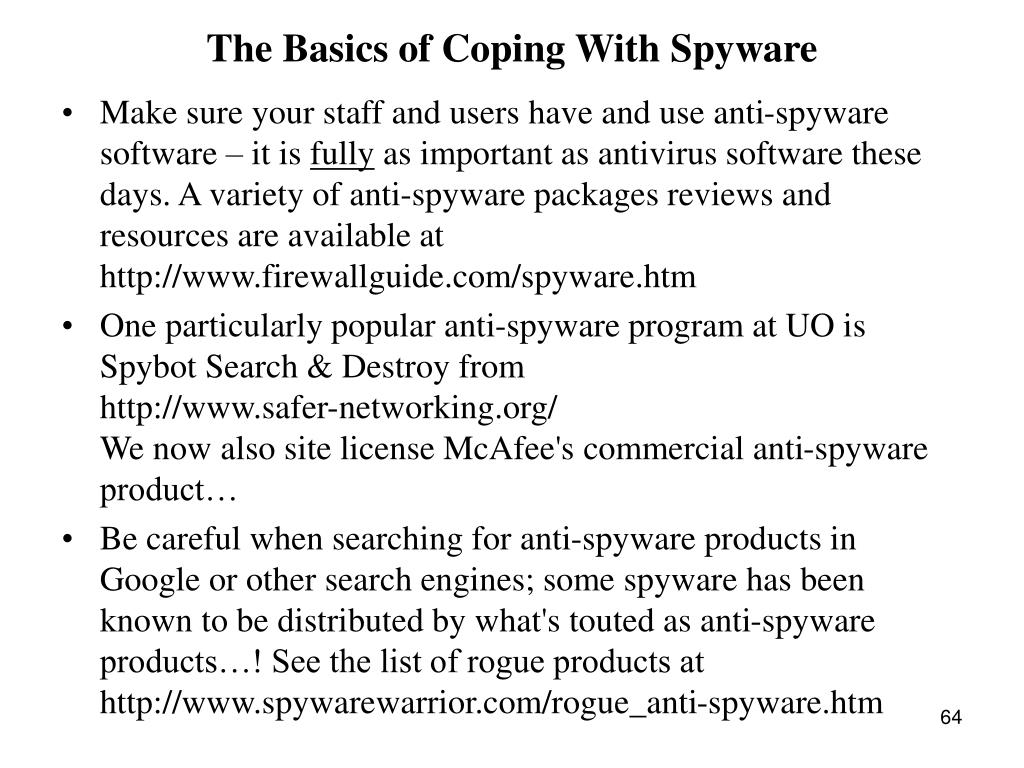 The Basics of Coping With Spyware