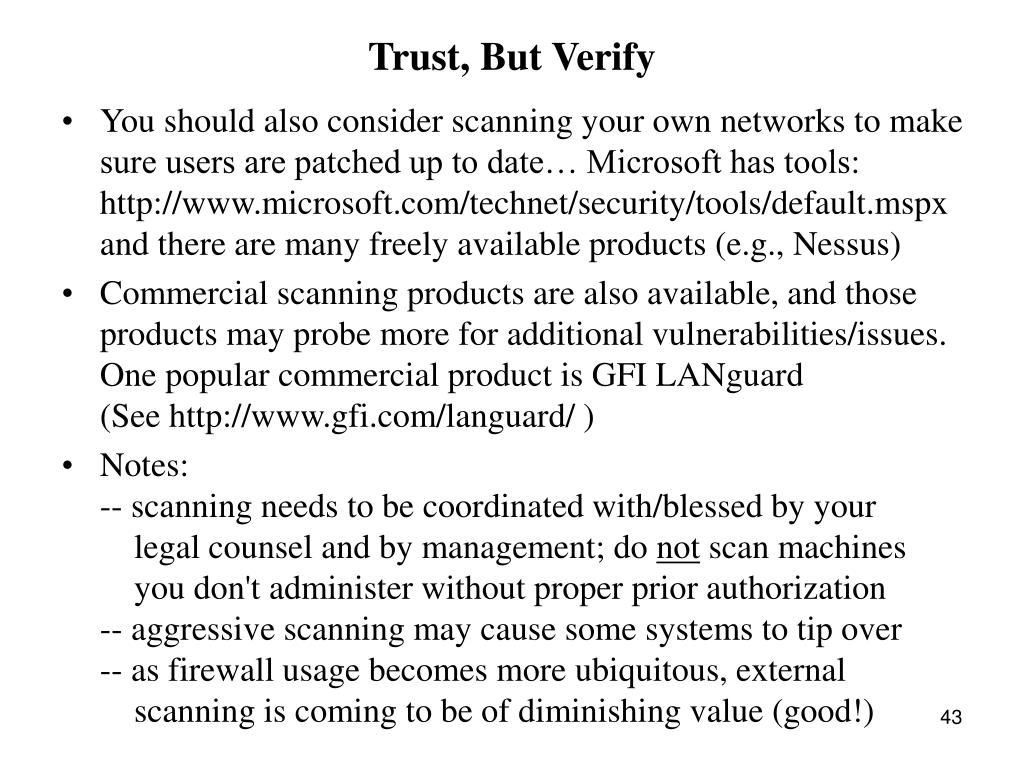 Trust, But Verify