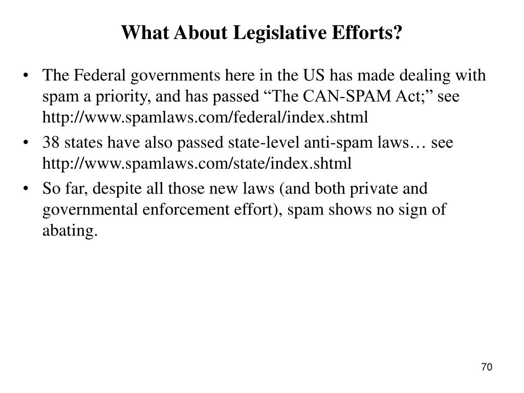 What About Legislative Efforts?
