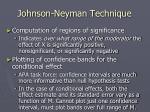 johnson neyman technique
