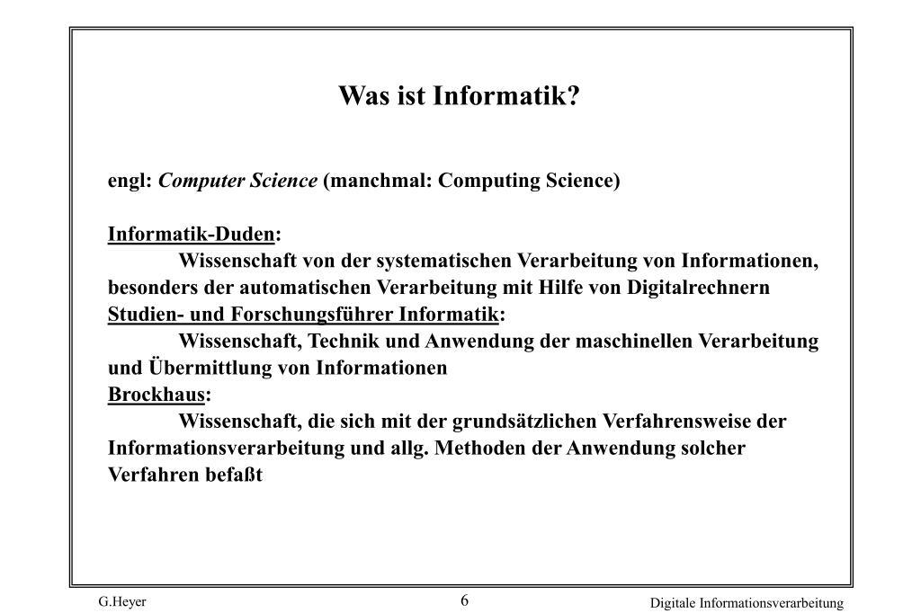 Was ist Informatik?