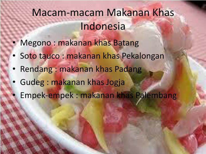 Macam macam makanan khas indonesia
