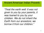 ancient american indian proverb