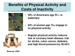 benefits of physical activity and costs of inactivity