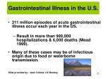 gastrointestinal illness in the u s
