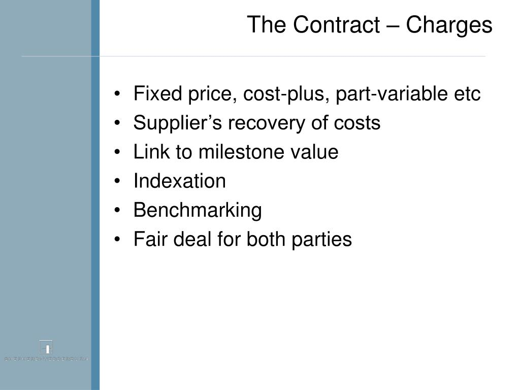 The Contract – Charges