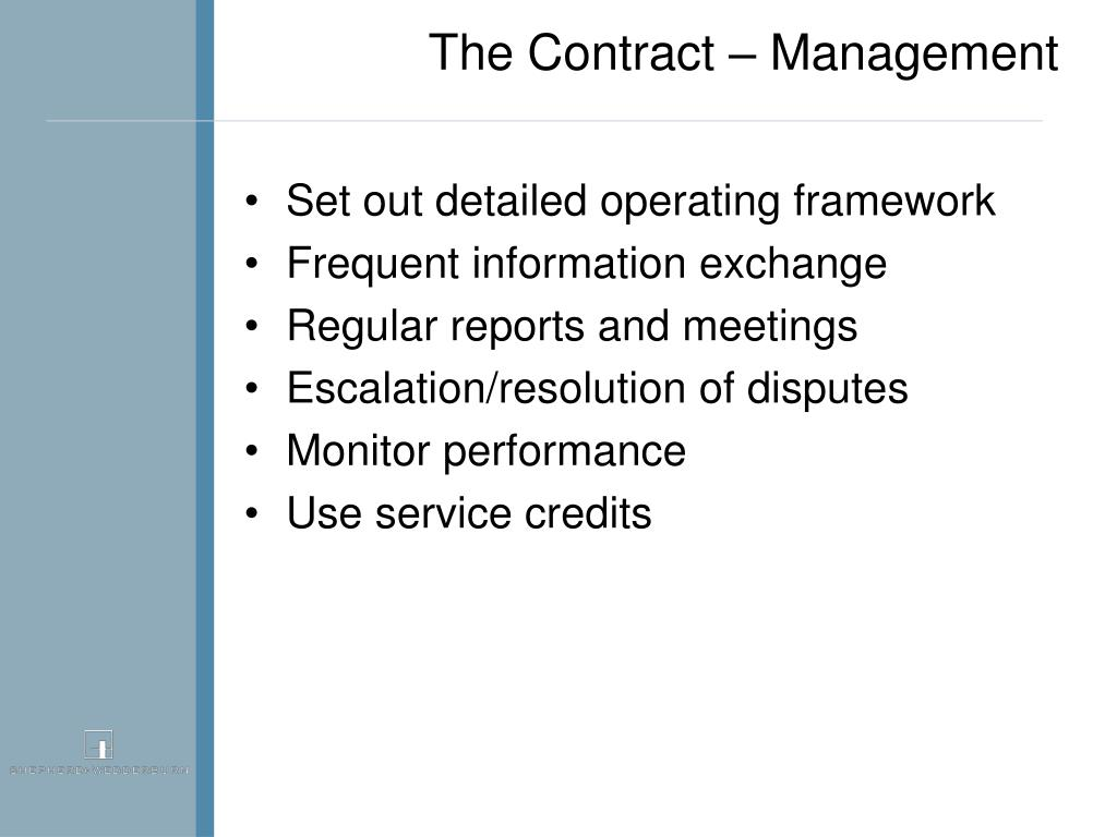 The Contract – Management