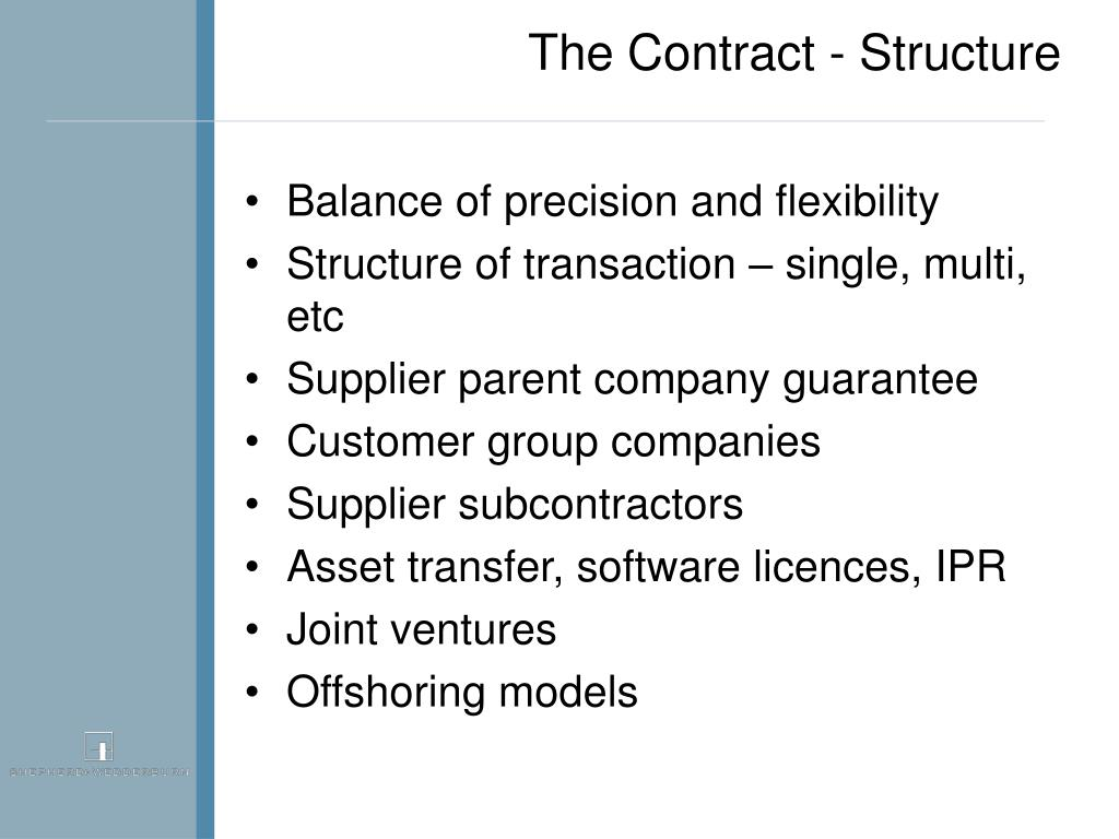 The Contract - Structure