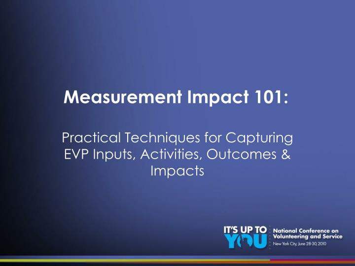 Measurement impact 101