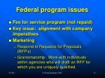 federal program issues