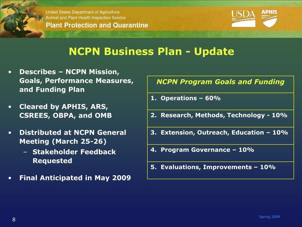 NCPN Business Plan - Update