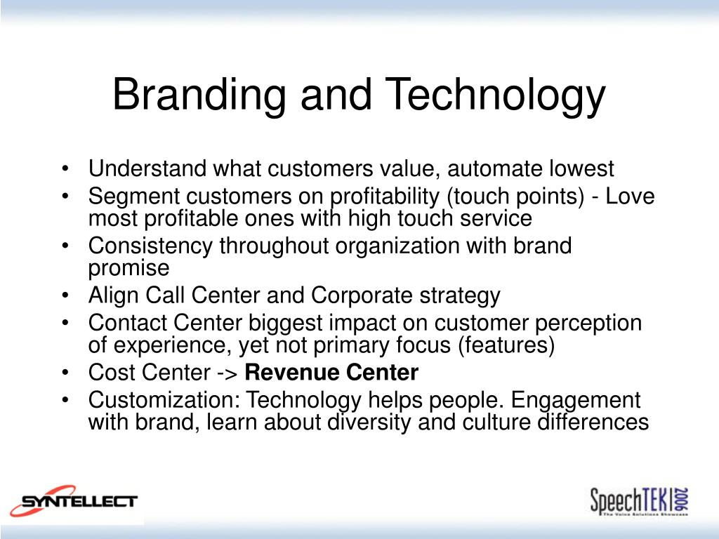 Branding and Technology