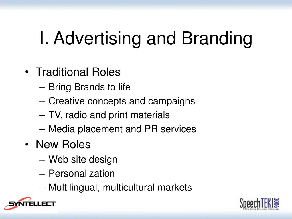 I. Advertising and Branding