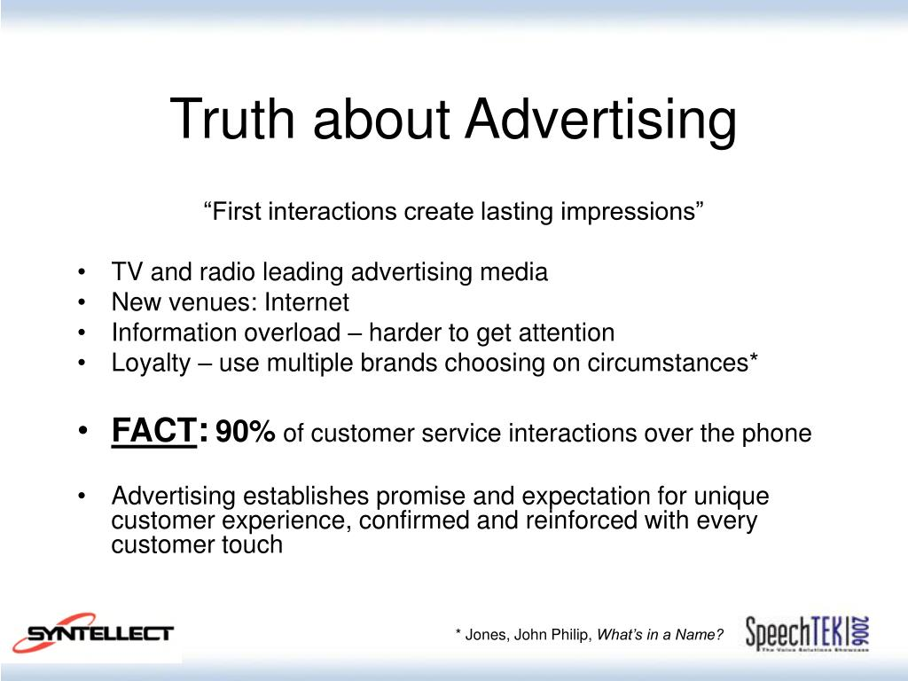 Truth about Advertising