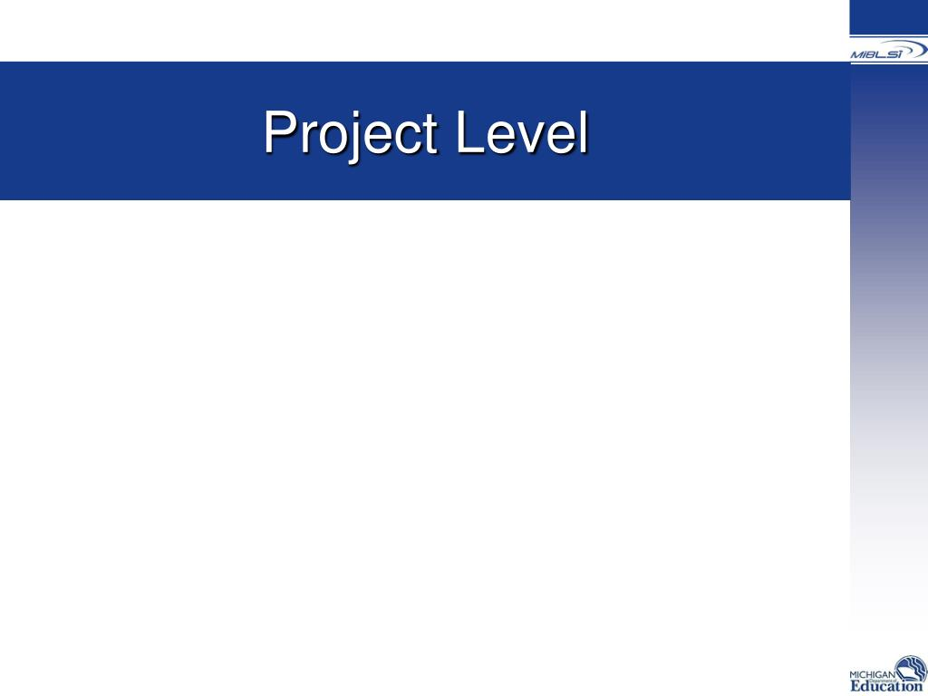 Project Level