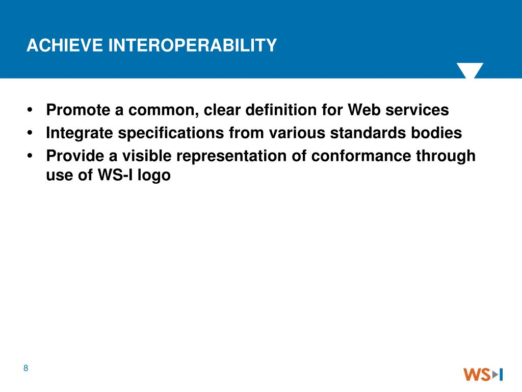 Promote a common, clear definition for Web services