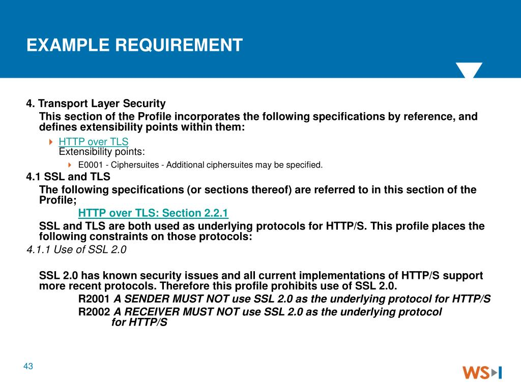 EXAMPLE REQUIREMENT