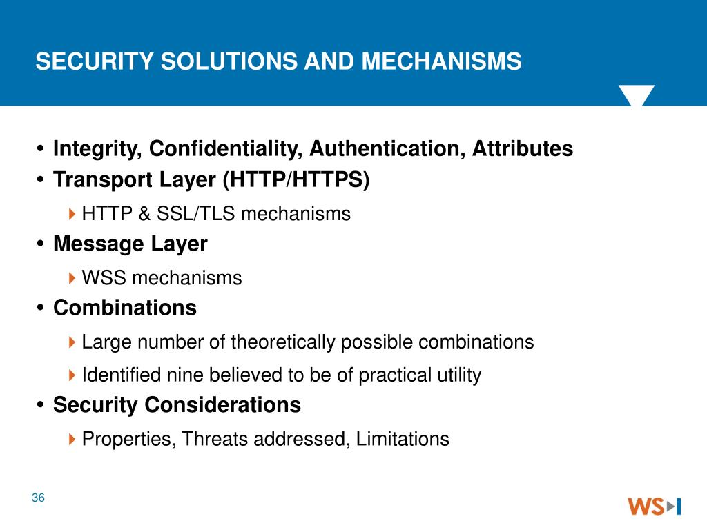 SECURITY SOLUTIONS AND MECHANISMS