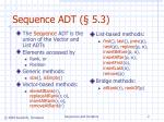 sequence adt 5 3