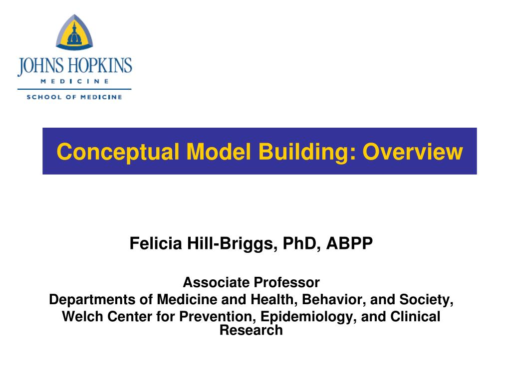 Conceptual Model Building: Overview