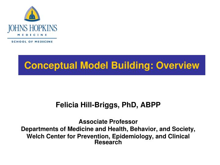 Conceptual model building overview