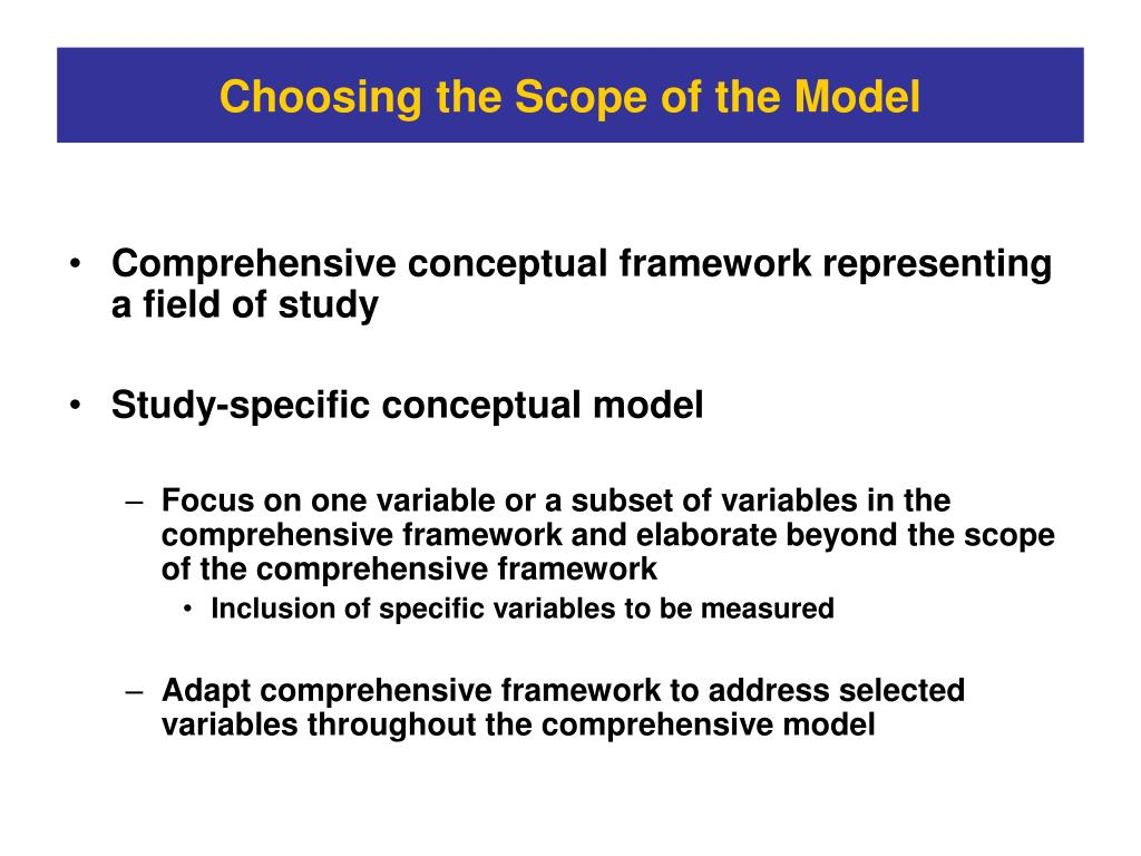 Choosing the Scope of the Model