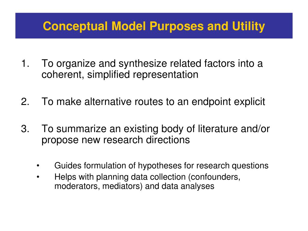 To organize and synthesize related factors into a coherent, simplified representation