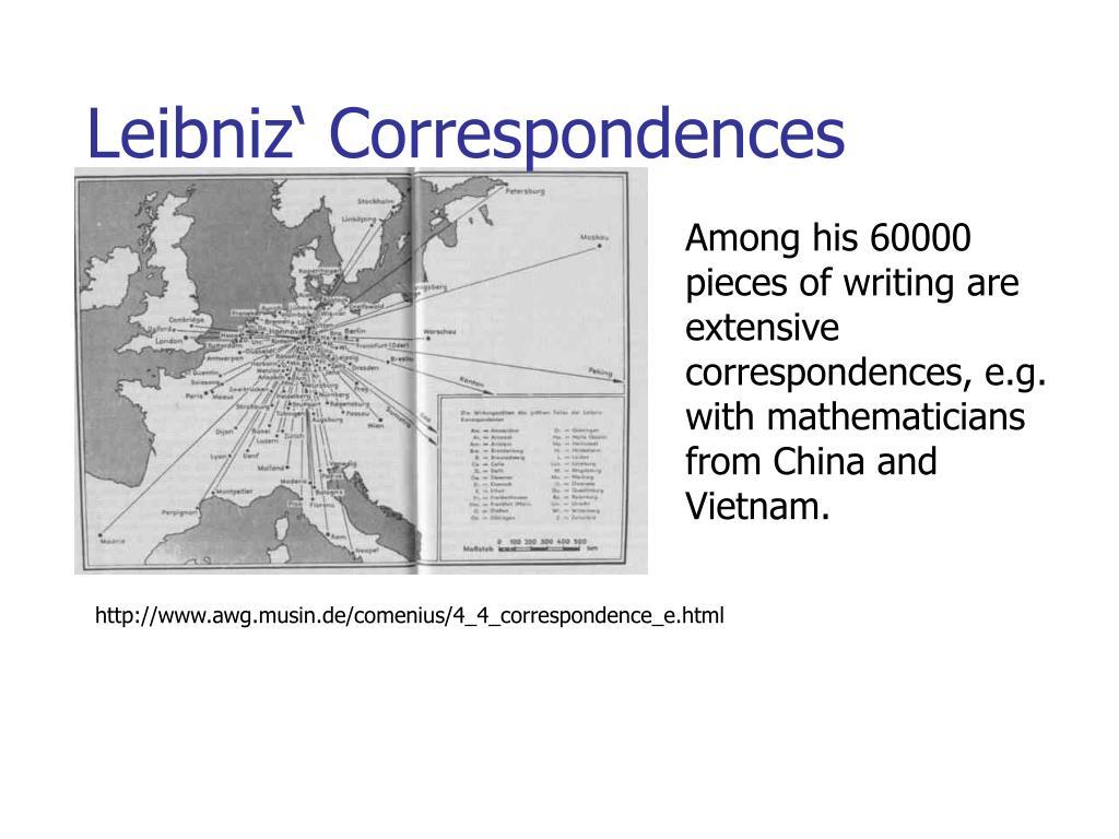 Leibniz' Correspondences