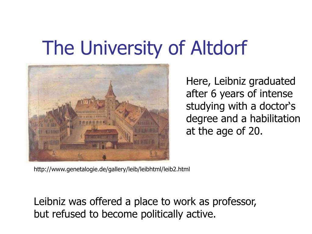 The University of Altdorf