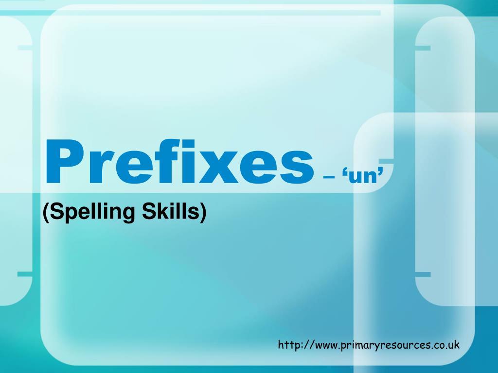 prefixes un l.