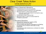 clear creek takes action tuesday september 20 2005 protecting business operations17
