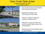 clear creek takes action tuesday september 20 2005 protecting district assets
