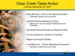 clear creek takes action tuesday september 20 2005