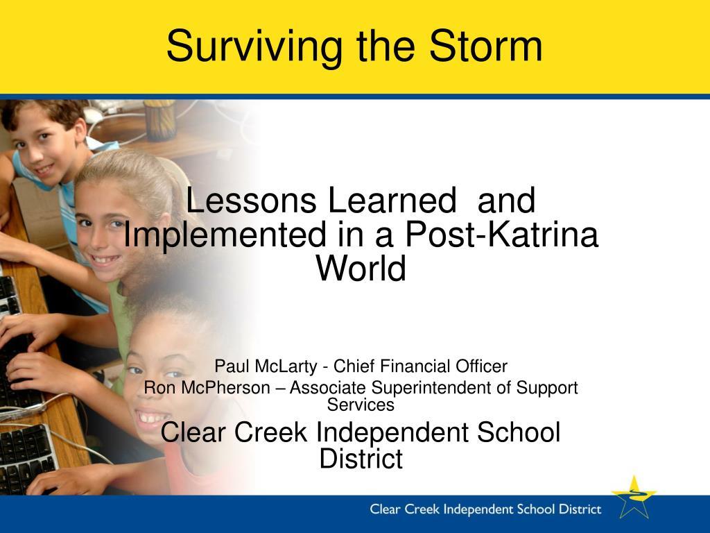surviving the storm l.