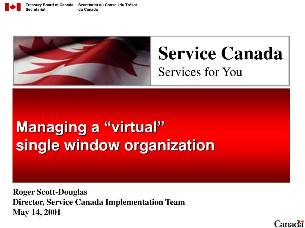 "Managing a ""virtual"""