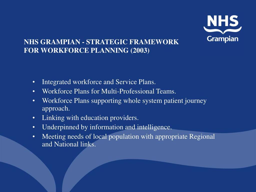 NHS GRAMPIAN - STRATEGIC FRAMEWORK