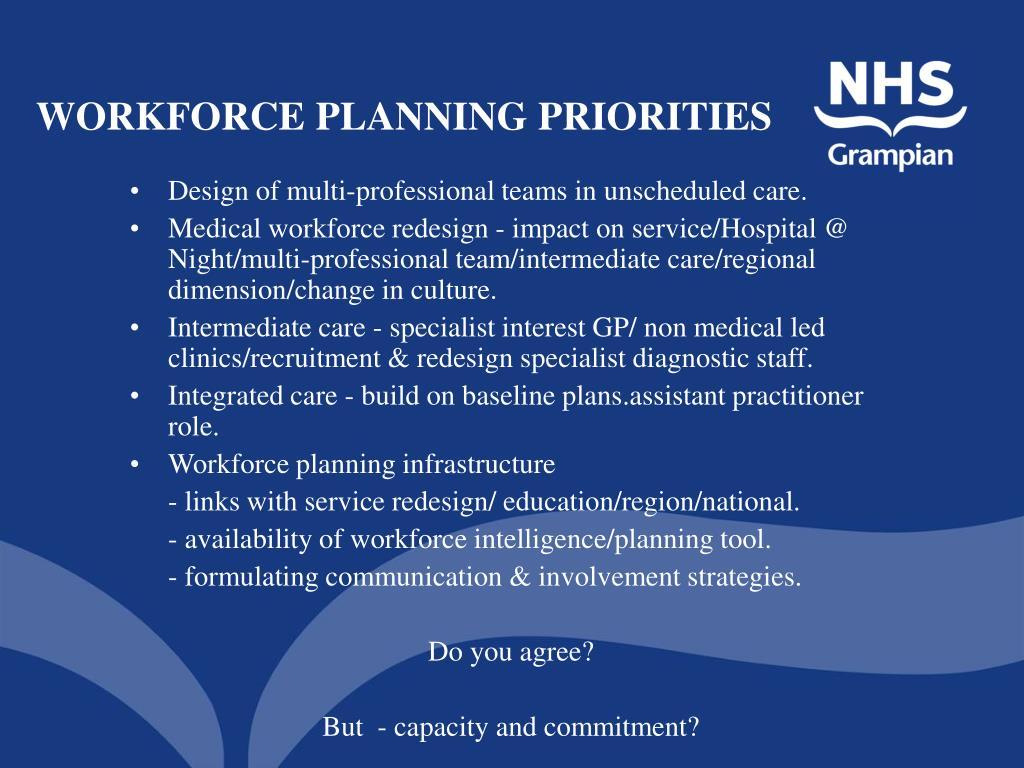 WORKFORCE PLANNING PRIORITIES